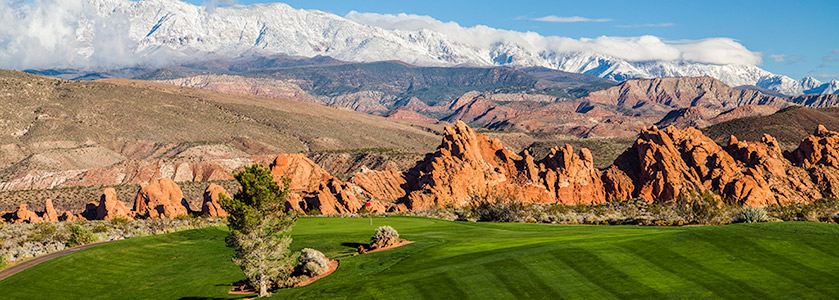 1 Green @ Sky Mountain Golf Course - St. George Utah Golf - Photo By - Brian Oar - @brianoar