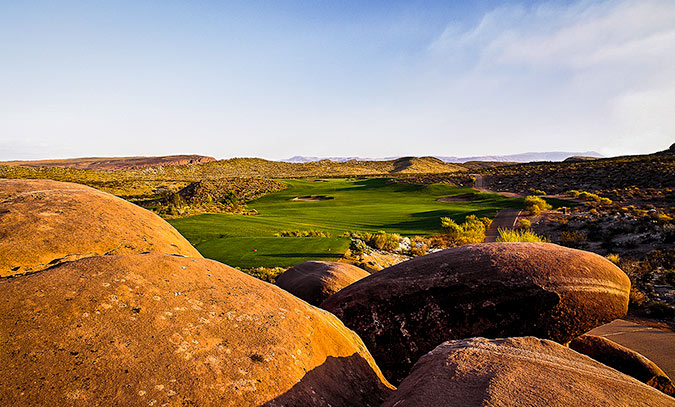 1 Tee @ Coral Canyon Golf Club - St. George Utah Golf - Photo By - Brian Oar - @brianoar