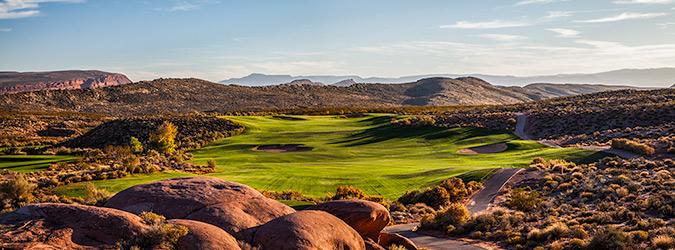 1 Tee @ Coral Canyon Golf Club - St. George Utah Golf - Photo By - Brian Oar - @brianoar