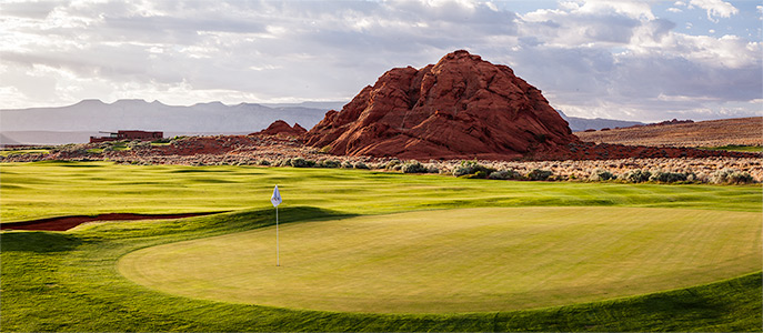 10 Green @ Sand Hollow Golf Club - St. George Utah Golf - Photo By - Brian Oar - @brianoar