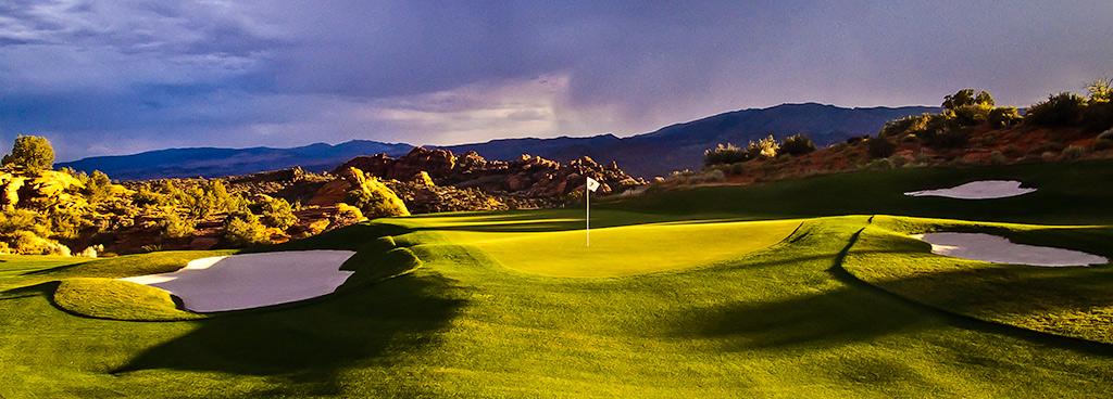 14 Green @ The Ledges Golf Club - St. George Utah Golf - Photo By - Brian Oar - @brianoar