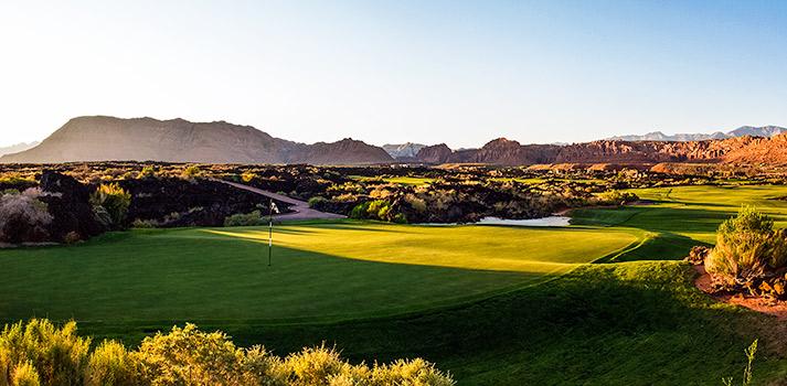 15 Green @ Entrada at Snow Canyon Golf Club - St. George Utah Golf - Photo By - Brian Oar - @brianoar