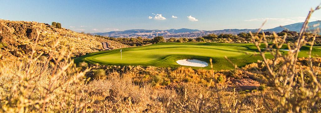 15 Green @ The Ledges Golf Club - St. George Utah Golf - Photo By - Brian Oar - @brianoar