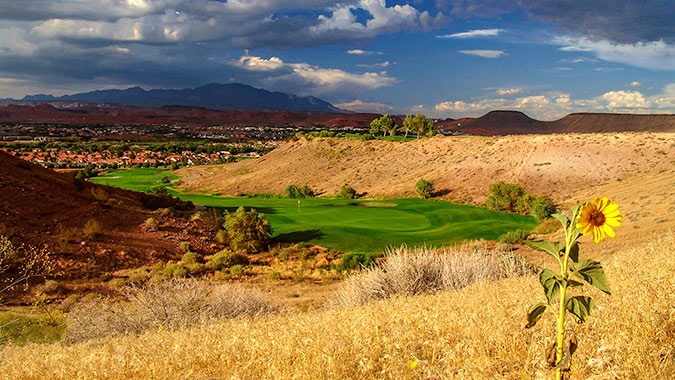 2 Green @ Sunbrook Golf Club - St. George Utah Golf - Photo By - Brian Oar - @brianoar
