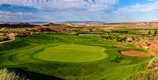 4 Green @ Coral Canyon Golf Club - St. George Utah Golf - Photo By - Brian Oar - @brianoar