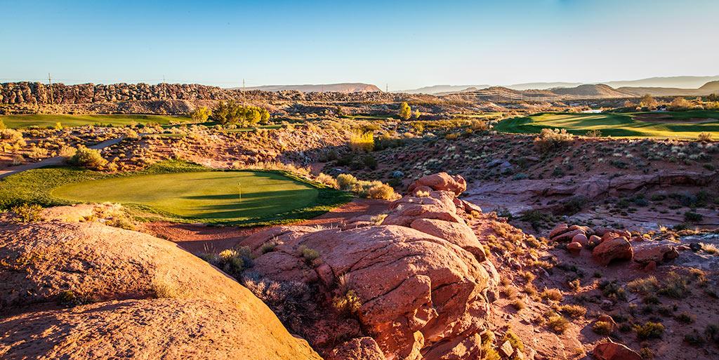 6 Green Top @ Coral Canyon Golf Club - St. George Utah Golf - Photo By - Brian Oar - @brianoar