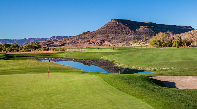 6 Green @ Southgate Golf Club - St. George Utah Golf - Photo By - Brian Oar - @brianoar