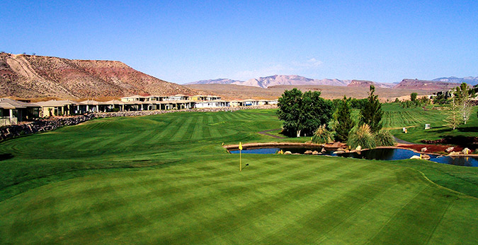 9 Green @ Sunbrook Golf Club - St. George Utah Golf - Photo By - Brian Oar - @brianoar