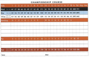 Sand Hollow Golf Club Championship Scorecard | StGeorgeUtahGolf.com