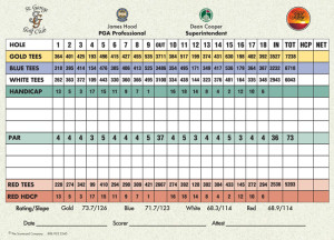 St. George Golf Club Scorecard | StGeorgeUtahGolf.com