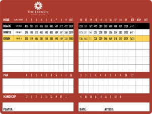 The Ledges of St. George Scorecard | StGeorgeUtahGolf.com