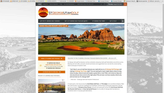 New StGeorgeUtahGolf.com Website Uploaded